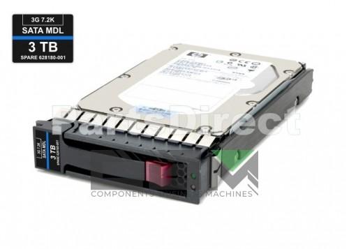 628059-B21 Жесткий диск HP 3TB 7.2K 3.5'' SATA 3Gb/s