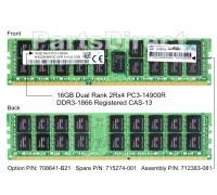 712383-081 Оперативная память HP 1x 16GB DDR3-1866 RDIMM PC3-14900R Dual Rank x4