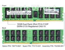 726719-B21 Оперативная память HP 16GB DDR4-2133MHz Dual Rank x4 C15 ECC Registered