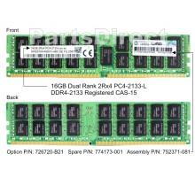 726720-B21 Модуль памяти HP 16GB (1x16GB) SDRAM DIMM