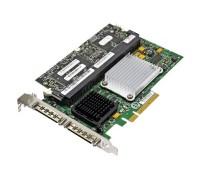 X6847 Контроллер RAID SCSI Dell PERC4E/DC LSI53C1030/Intel Xscale IOP332 500Mhz 256Mb BBU Int-2x68Pin Ext-2xVHDCI RAID50 UW320SCSI PCI-E8x For PE830,850,1420, 18XX,28XX,68XX